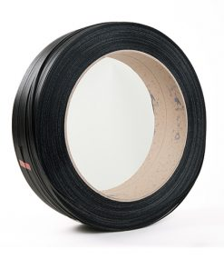 Omsnoeringsband, PP, zwart, 0,73 mm dik, 12 mm x 2.000 m, kern 406 mm-0