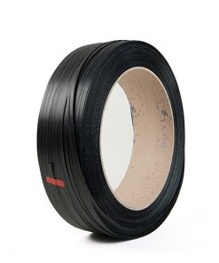 Omsnoeringsband, PP, zwart, 0,55 mm dik, 12 mm x 3.000 m, kern 406 mm-0