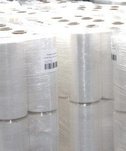 Palletwikkelfolie, machinerollen, 200% rek, transparant, 23 My dik, 50 cm x 1.500 m per rol-0