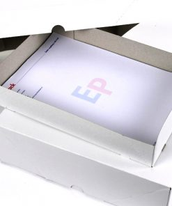 Paraatdozen, 475 grams, A-4, 100 mm hoog, wit/grijs, 50 stuks per doos-0