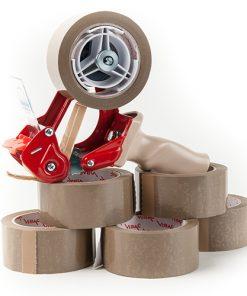 Tape, PPA lownoise, bruin, 50 mm x 66 m per rol, 36 rol per doos-0