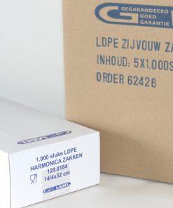 Harmonicazakken, LDPE, 20 My, 100 x 40 x 270 mm-0