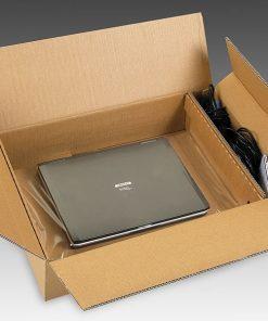 Laptopverpakking, laptopdoos, inclusief accessore compartiment, 15 inch